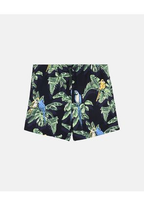 Stella McCartney Black Medium-length Paradise Print Swim Shorts, Men's, Size 30