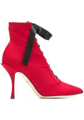 Dolce & Gabbana lace-up ankle boots - Red