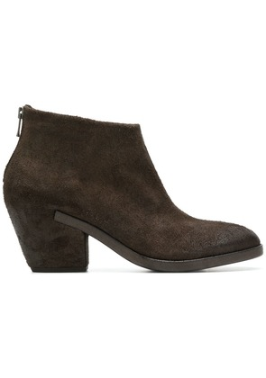 Del Carlo back zip ankle boots - Brown