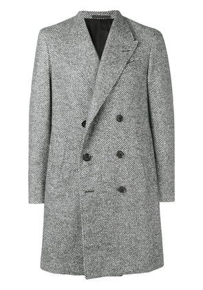 Caruso double-breasted fitted coat - Grey