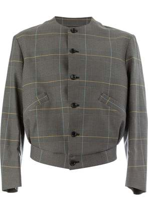 Christopher Nemeth round neck checked jacket - Grey