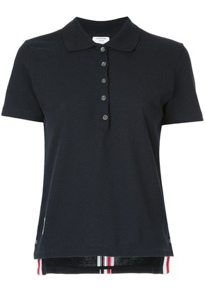 Thom Browne Relaxed Fit Short Sleeve Polo With Center Back Red, White