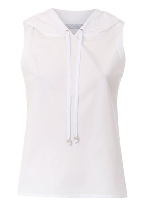 Gloria Coelho hooded blouse - White