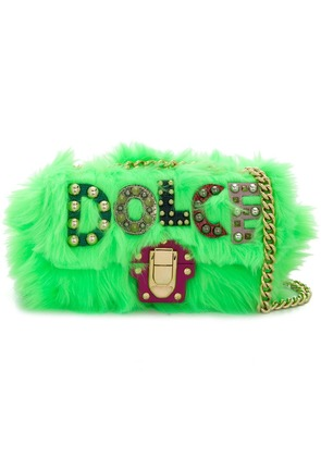 Dolce & Gabbana logo embellished shoulder bag - Green