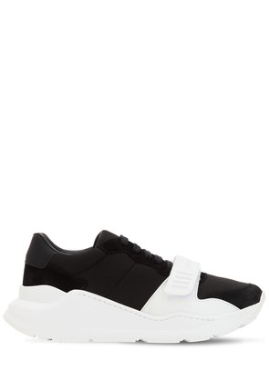 30MM SUEDE & LEATHER SNEAKERS