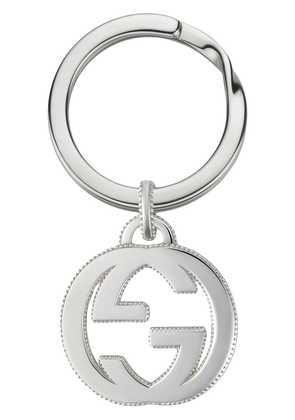 Gucci Interlocking G keychain in silver - Metallic