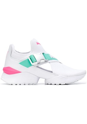 Puma side buckled sneakers - White