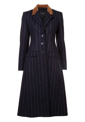 Derek Lam Tailored Coat with Leather Detail - Blue