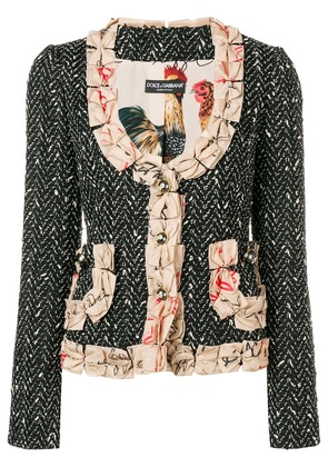 Dolce & Gabbana bow detailed blazer - Black