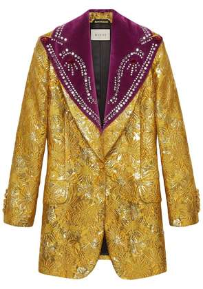 Gucci Brocade evening jacket with detachable lapel - Yellow