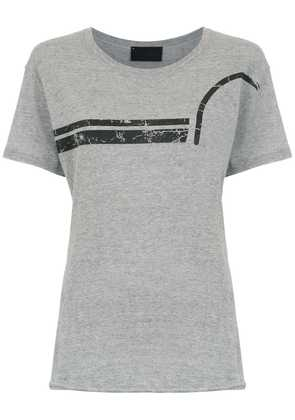 Andrea Bogosian top with striped detail - Grey