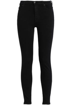 7 For All Mankind Woman Skinny Leg Black Size 25