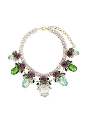 Dolce & Gabbana floral pendant necklace - Green
