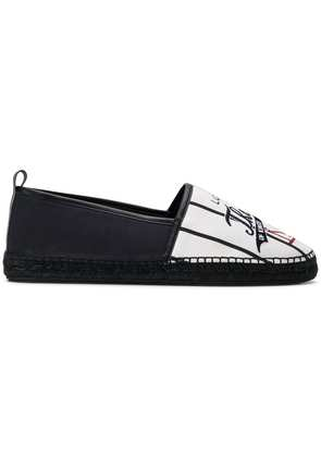 Dolce & Gabbana Royals embroidered espadrilles - White