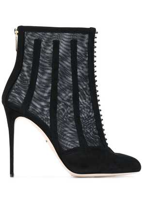 Dolce & Gabbana mesh cage ankle boots - Black