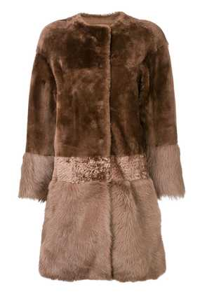 Desa 1972 shearling midi coat - Brown