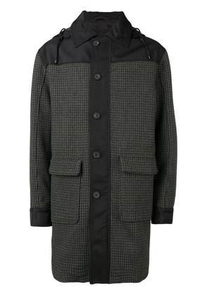 Joseph hooded houndstooth coat - Green