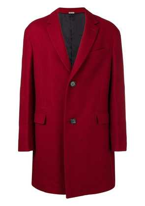 Lanvin single-breasted mid-length coat - Red