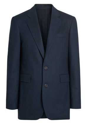 Burberry Classic Fit Wool Cashmere Tailored Jacket - Blue