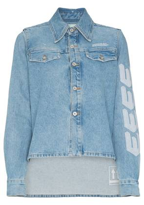 Off-White arrow embroidered denim jacket - Blue