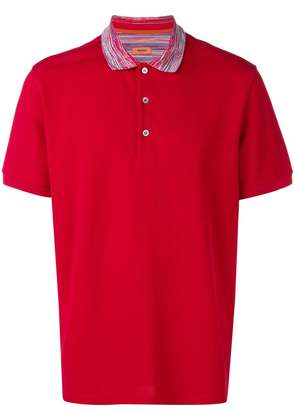 Missoni short sleeved polo shirt - Red