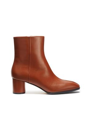 'Emily' cylindrical heel leather ankle boots