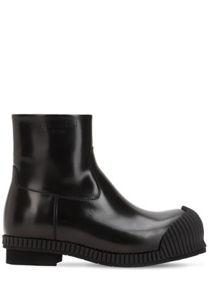 50MM DEICINE BRUSHED LEATHER ANKLE BOOTS