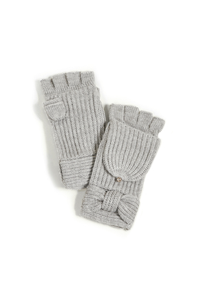 Kate Spade New York Solid Bow Pop Top Mittens