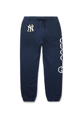 + New York Yankees Appliquéd Printed Loopback Cotton-jersey Sweatpants