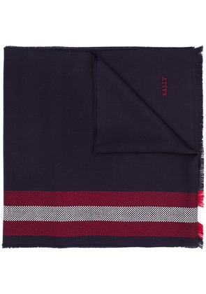 Bally classic striped scarf - Blue