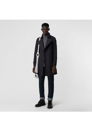 Burberry Archive Logo-lined Cotton Gabardine Trench Coat, Black