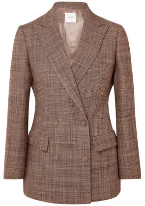 Agnona - Double-breasted Wool-tweed Blazer - Pink