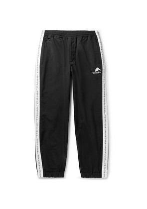 Logo-embroidered Tapered Striped Shell Sweatpants
