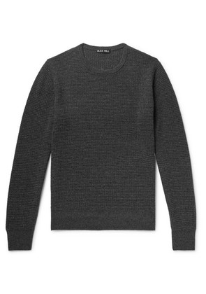 Alex Mill - Waffle-knit Merino Wool And Cashmere-blend Sweater - Charcoal