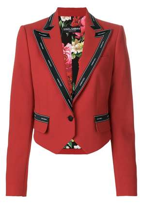 Dolce & Gabbana cropped military jacket - Red