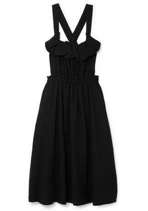 Noir Kei Ninomiya - Ruffled Wool Dress - Black