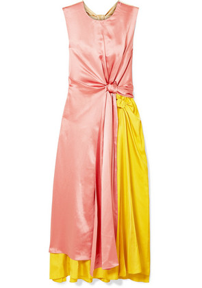 Roksanda - Nyimi Color-block Silk Midi Dress - Pink