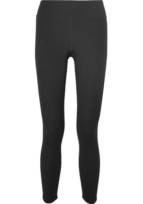 Nike - Power Epic Lux Ribbed Dri-fit Stretch Leggings - Black