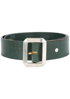 Addict Clothes Japan rectangle buckle belt - Green
