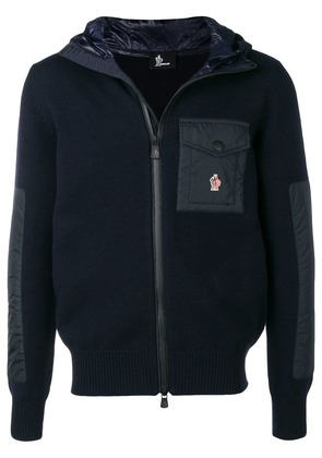 Moncler Grenoble knit hooded jacket - Blue