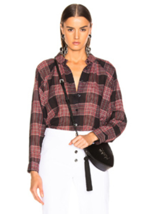 The Great Estate Button Up Top in Red,Plaid,Blue