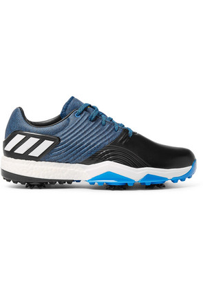 Adipower 4 Leather And Rubber Golf Shoes
