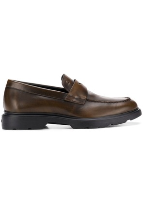 Hogan classic laceless loafers - Brown