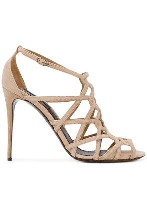 Dolce & Gabbana open toe strapped sandals - Nude & Neutrals