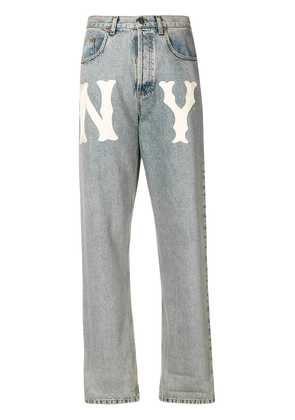 Gucci NY Yankees™ patch jeans - Blue