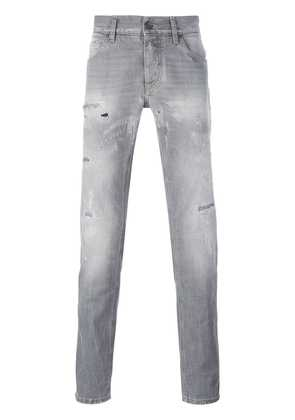 Dolce & Gabbana distressed straight jeans - Grey