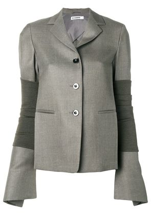 Jil Sander arm band wide sleeve blazer - Green