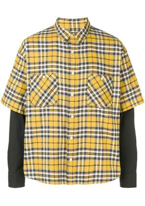 Adaptation layered sleeve shirt - Yellow
