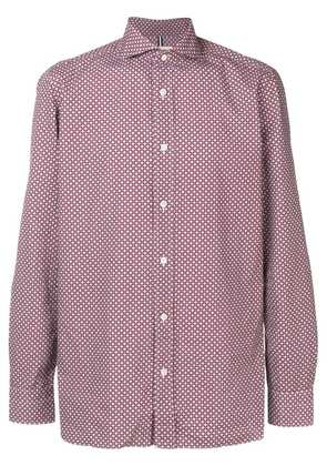 Borrelli printed fitted shirt - Red