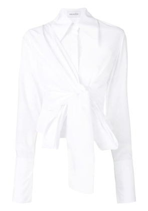 16Arlington shirt with knot detail - White
